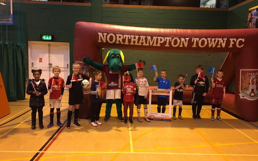 Children with NTFC mascot at Lings Forum